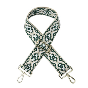 Green and Grey Woven Shoulder Strap