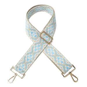 Light blue and grey Woven Shoulder Strap