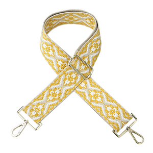 Yellow and white Woven Shoulder Strap