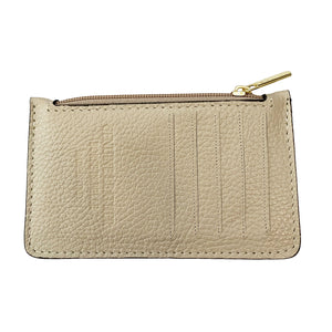 Bolsa Nova Leather Lucia card wallet Bone