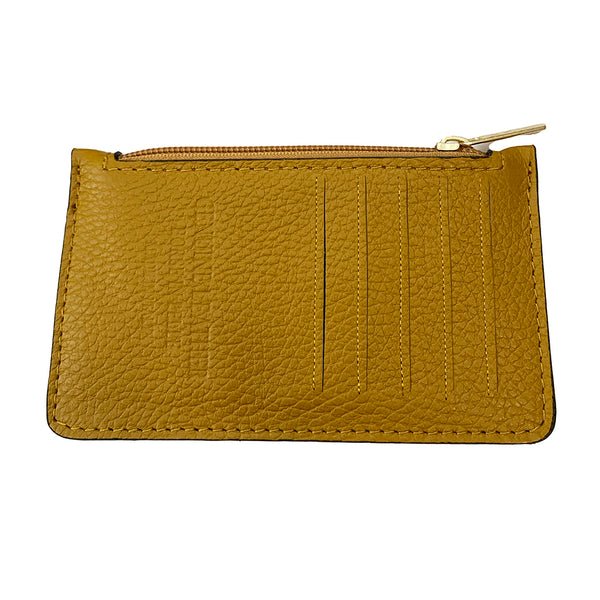 Bolsa Nova Leather Lucia card wallet Yellow