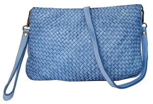 Laura woven crossbody in denim