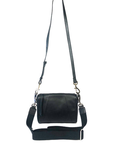 Chrissy top zip crossbody bag in black