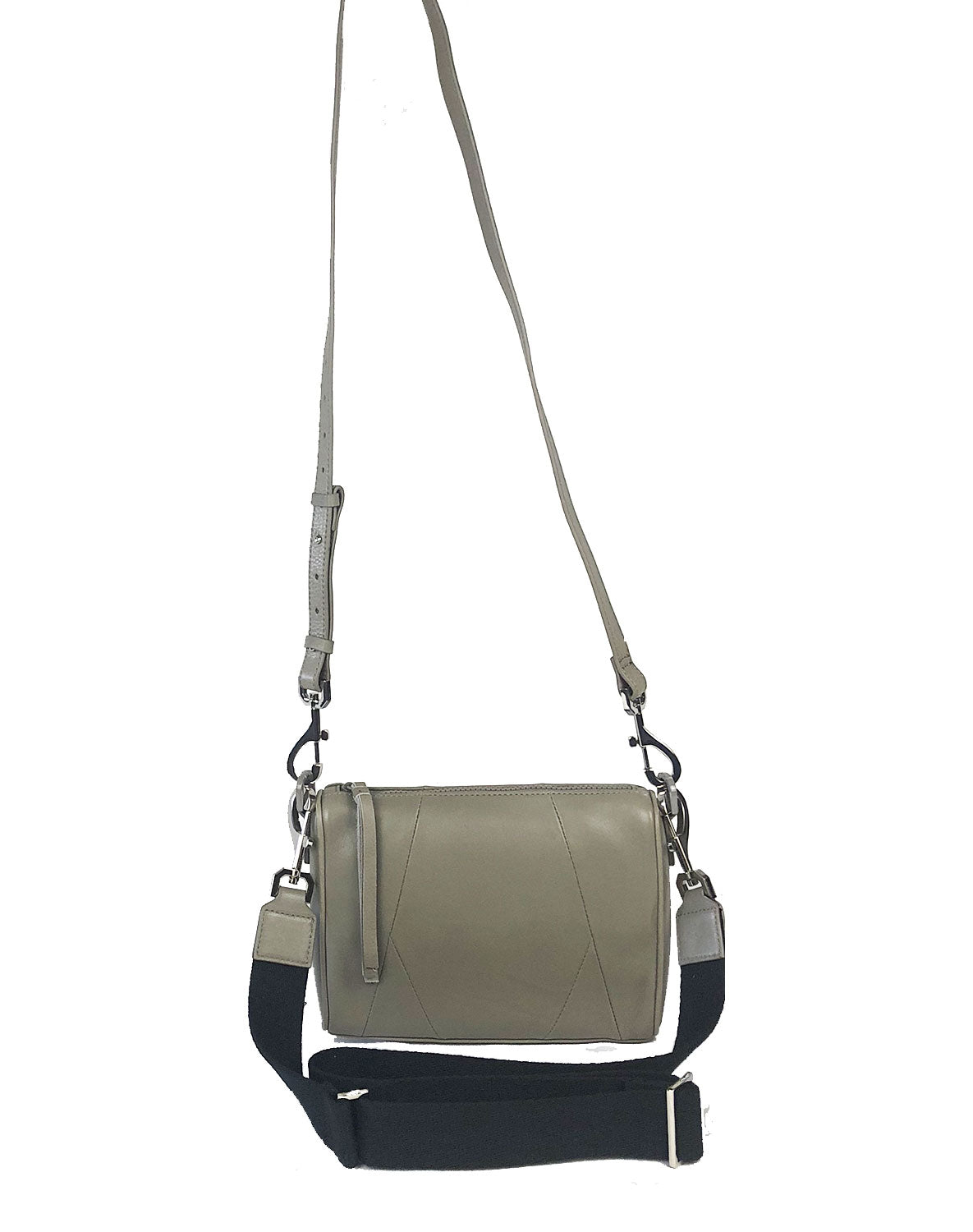 Chrissy top zip crossbody bag in Grey