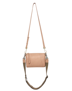 Chrissy top zip crossbody bag in pink