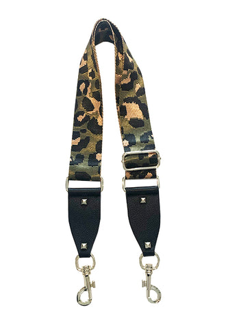 Animal Print Fabric and Vegan leather Shoulder strap
