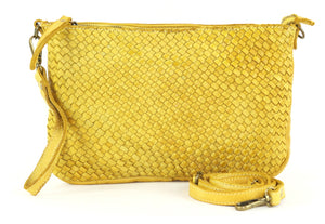 Laura woven crossbody in yellow
