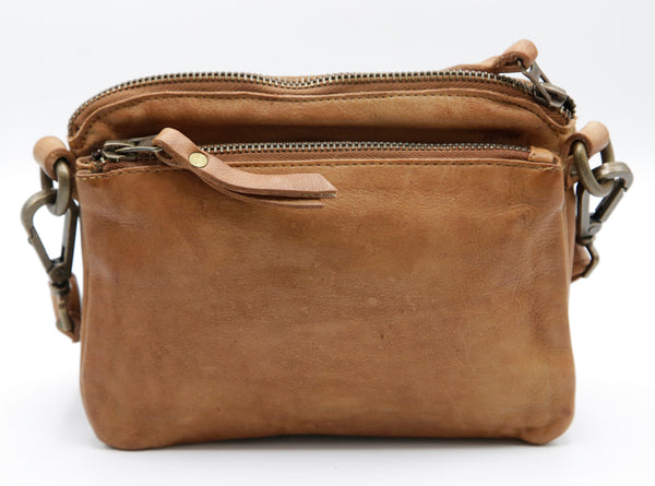 Mara mini wallet bag Cognac