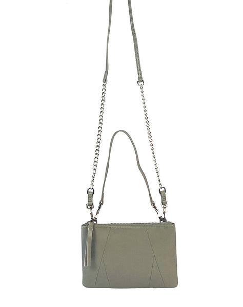 Nicole 3-way crossbody and pouch in Grey