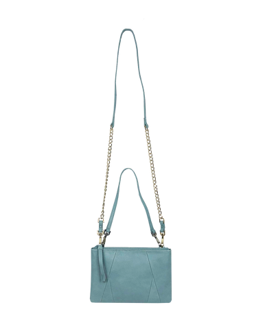 Nicole 3-way crossbody and pouch in Blue
