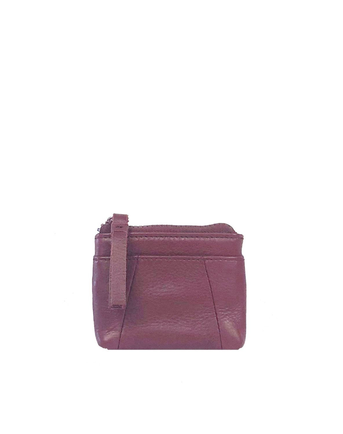 Paige card case in Wine