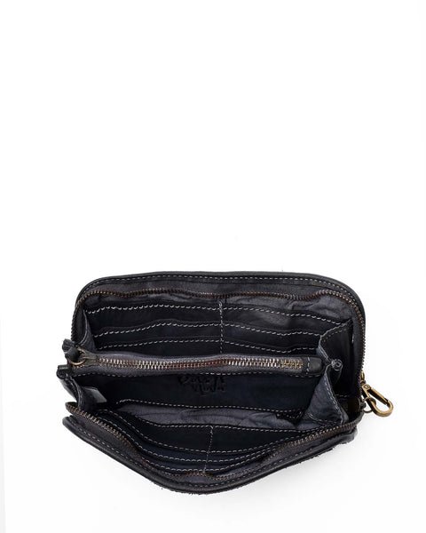 Sofia zip around wallet Denim blue