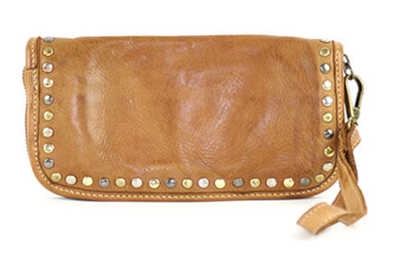 Sofia zip around wallet cognac