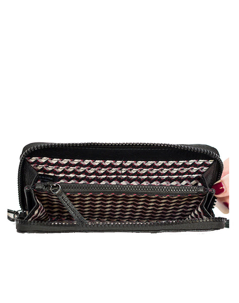 Bolsa Nova zip around wallet in wine