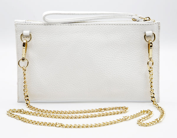 Bianca crossbody pouch white