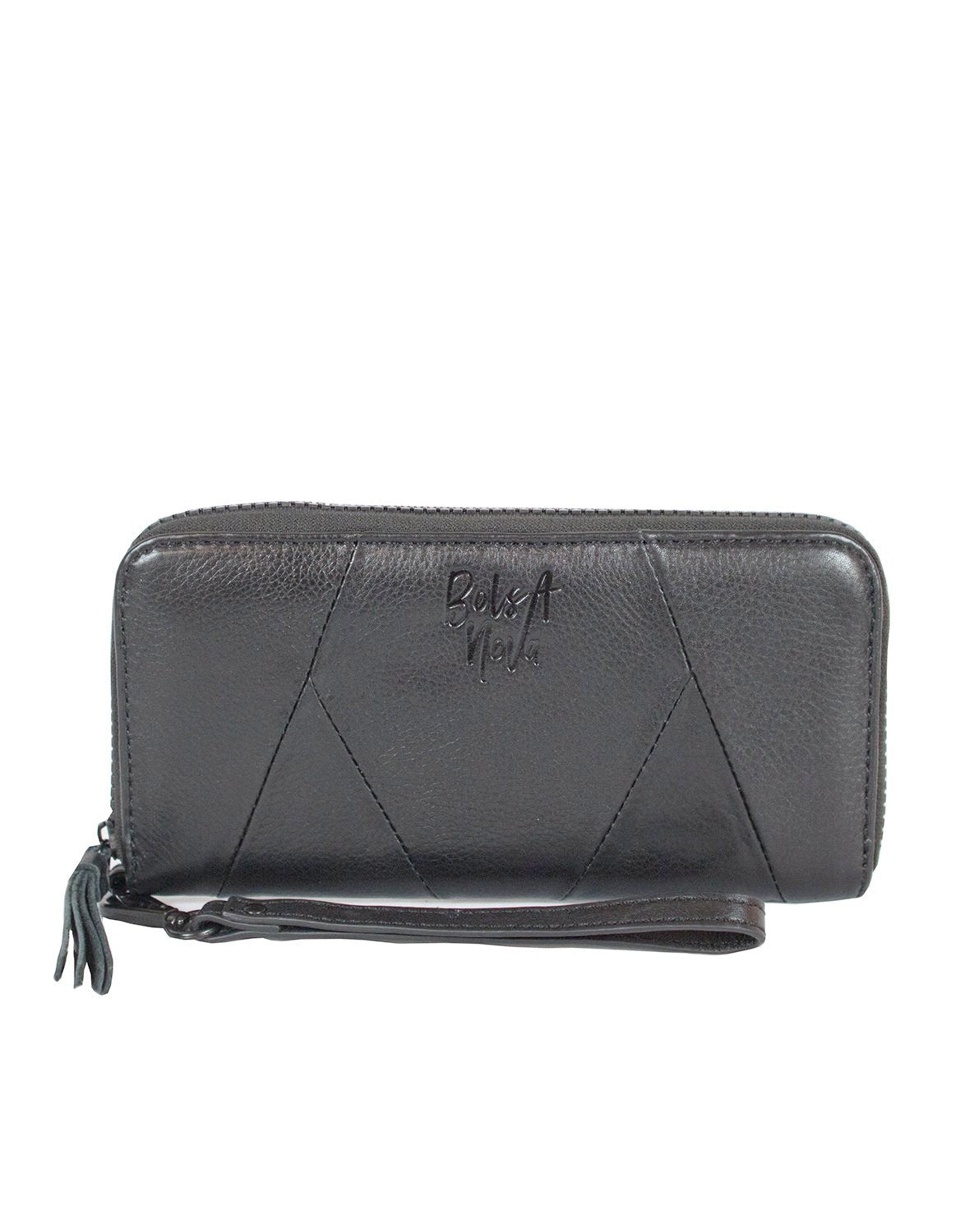 Bolsa Nova wallet in black leather