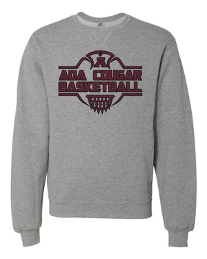 Ada Cougars Basketball Net Crew-neck Sweatshirt (Grey)