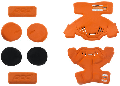 POD K1 KNEE BRACE PAD SET ORANGE YL (LEFT) KP410-009-YL