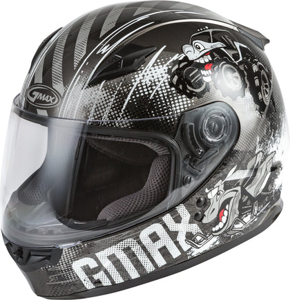 GMAX YOUTH GM-49Y BEASTS FULL-FACE HELMET DARK SILVER/BLACK YS G1498540