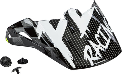 FLY RACING YOUTH KINETIC SKETCH VISOR BLACK/WHITE/HI-VIS 73-88177