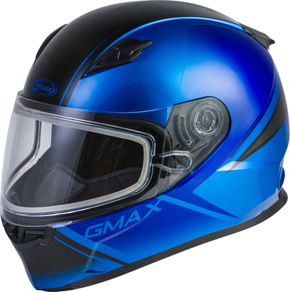 GMAX FF-49S FULL-FACE HAIL SNOW HELMET BLUE/BLACK MD G2495045