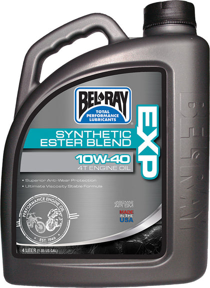 BEL-RAY EXP SYNTHETIC ESTER BLEND 4T ENGINE OIL 10W-40 4L 99120-B4LW