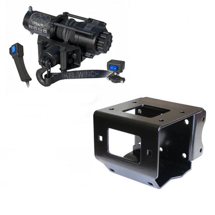 Polaris Sportsman 400 2011-14 Winch and Mount Kit KFI SE35 Stealth - Allterraindepot
