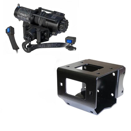 Polaris Sportsman 6x6 Big Boss 2011-19 Winch and Mount Kit KFI SE35 Stealth - Allterraindepot