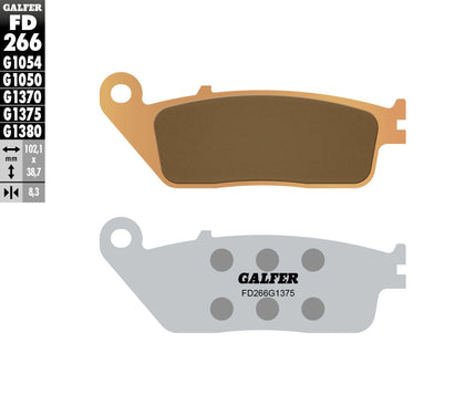 GALFER BRAKE PADS SINTERED CERAMIC FD266G1375 FD266G1375