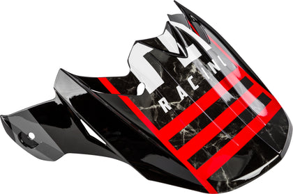 FLY RACING F2 CARBON GRANITE HELMET VISOR RED/BLACK/WHITE 73-46261