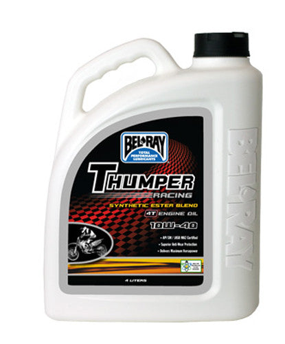 BEL-RAY THUMPER SYNTHETIC ESTER BLEND 4T ENGINE OIL 10W-40 4L 99520-B4LW