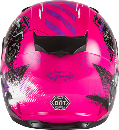 GMAX YOUTH GM-49Y BEASTS FULL-FACE HELMET PINK/PURPLE/GREY YS G1498400