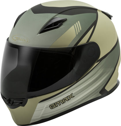 GMAX FF-49 FULL-FACE DEFLECT HELMET SMK SHIELD MATTE TAN/KHAKI MD G1494535