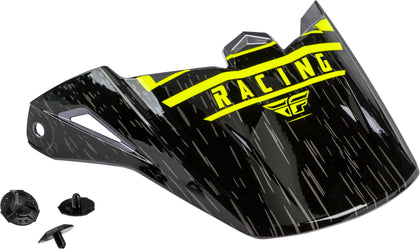 FLY RACING KINETIC K120 HELMET VISOR HI-VIS/GREY/BLACK 73-88170