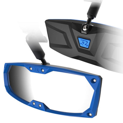UTV Rearview Mirror W/Blue Bezel For Ranger Pro-fit 500 700 Defender