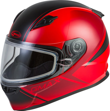 GMAX FF-49S FULL-FACE HAIL SNOW HELMET MATTE RED/BLACK LG G2495036