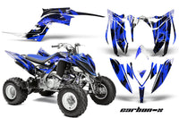 ATV Graphics Kit Decal Sticker Wrap For Yamaha Raptor 700R 2013-2018 CARBONX BLUE