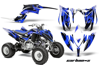 ATV Graphics Kit Decal Sticker Wrap For Yamaha Raptor 700R 2013-2018 CARBONX BLUE-atv motorcycle utv parts accessories gear helmets jackets gloves pantsAll Terrain Depot