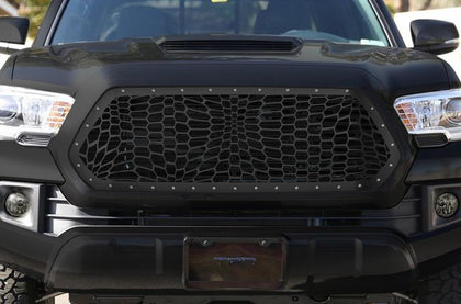 1 Piece Steel Grille for Toyota Tacoma 2016-2017 - MARINE CAMO