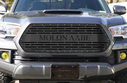 1 Piece Steel Grille for Toyota Tacoma 2016-2017 - MOLON LABE