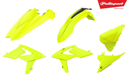 POLISPORT PLASTIC BODY KIT FLO YELLOW 90789