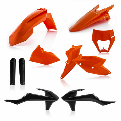 ACERBIS FULL PLASTIC KIT ORANGE/BLACK KTM 2733425225