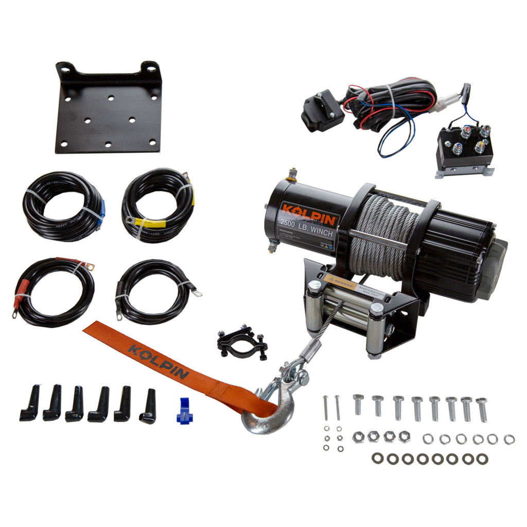 KOLPIN WINCH KIT - 2500 LB - STEEL CABLE - All Terrain Depot