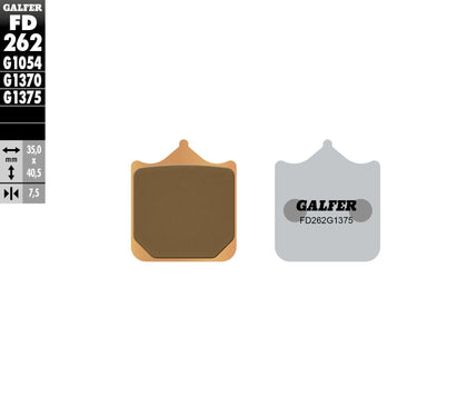 GALFER BRAKE PADS SINTERED CERAMIC FD262G1375 FD262G1375