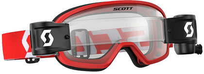 YOUTH BUZZ WFS GOGGLE RED/WHITE W/CLEAR LENS