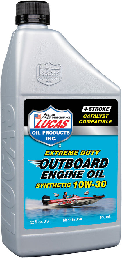 LUCAS OUTBOARD ENGINE OIL SYNTHETIC 10W-30 1QT 10661