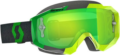 HUSTLE GOGGLE YELLOW/GREEN W/GREEN CHROME WORKS