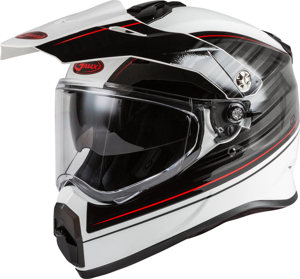 AT-21 ADVENTURE RALEY HELMET WHITE/GREY/RED XS-atv motorcycle utv parts accessories gear helmets jackets gloves pantsAll Terrain Depot