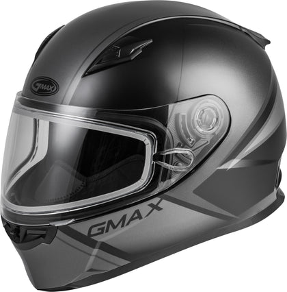 GMAX FF-49S FULL-FACE HAIL SNOW HELMET MATTE BLACK/GREY SM G2495504