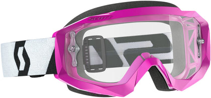 HUSTLE GOGGLE X PINK/BLACK W/CLEAR WORKS